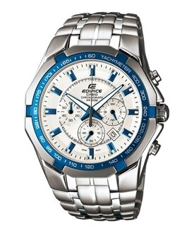 CASIO EDIFICE EF-540D-7A2尊爵棕三眼運動計時腕錶/白面45mm