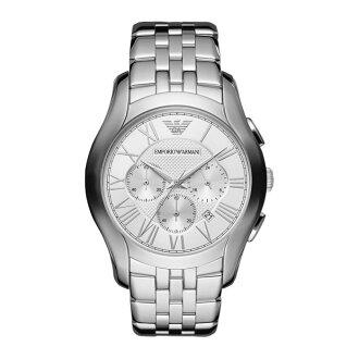 美國百分百【Emporio Armani】配件 EA 手錶 腕錶 男錶 AR1702 不鏽鋼 三眼計時 銀色 I461