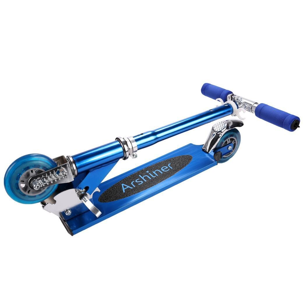 Kids Adjustable Folding 2 Wheels Aluminum Kickboard Kick Scooter 2