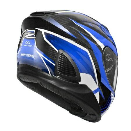 任我型騎士部品 ZEUS 1600 AK6 藍 亮光 碳纖維 全罩 安全帽 送好禮五選一