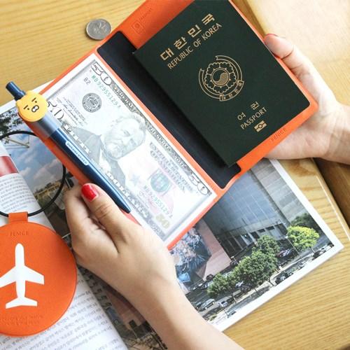 【FENICE】證件護照套(中)-桃紅