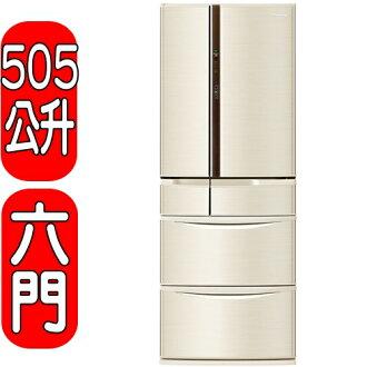 《結帳打95折》Panasonic國際牌【NR-F510VT-N1】六門變頻冰箱