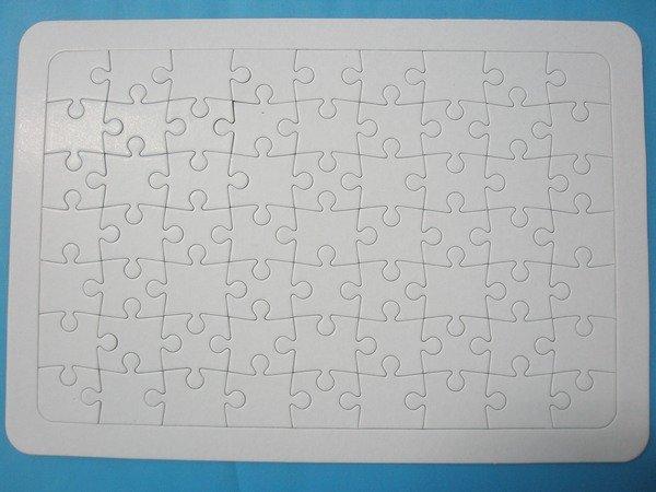 大63片空白拼圖彩繪拼圖(大)【一袋50個入】定[#25]DIY拼圖38cmx26cm~3059