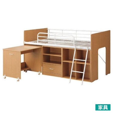 ◎多功能系統床組 NT-9720 LBR/WH
