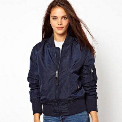 ☆空軍夾克 MA1外套-純色修身時尚潮款女外套3色72av1【獨家進口】【米蘭精品】