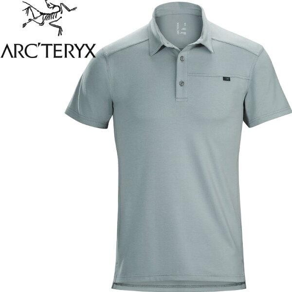 Arcteryx始祖鳥排汗衣休閒上衣短袖Polo衫男款CaptivePolo14450飛馬灰