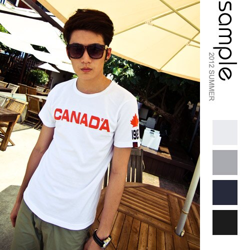 現貨 Sample【SA2924】台灣製,CANADA字母短袖T恤