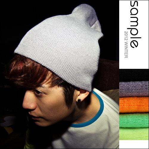 針織毛帽【Sample】Big Bang款情侶秋冬多色系超彈性針織毛帽【SA3809】-3