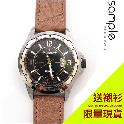 sample:現貨【Sample】韓國品牌雙外框鐘點日期錶-共2色【SA4511】-Julius★送襯衫