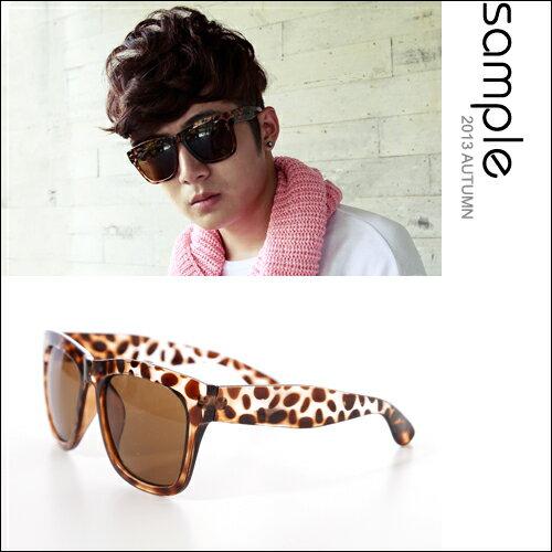 太陽眼鏡~S le~ 豹紋款膠框墨鏡~SA5920~