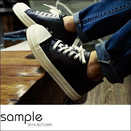 sample:現貨內增高【Sample】韓國製,GD款全素皮革大頭休閒鞋【SA9725】