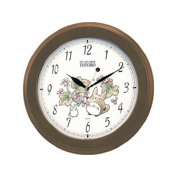 【真愛日本】15082100043原木龍貓樹葉圓鐘龍貓TOTORO豆豆龍時鐘掛鐘鐘錶居家