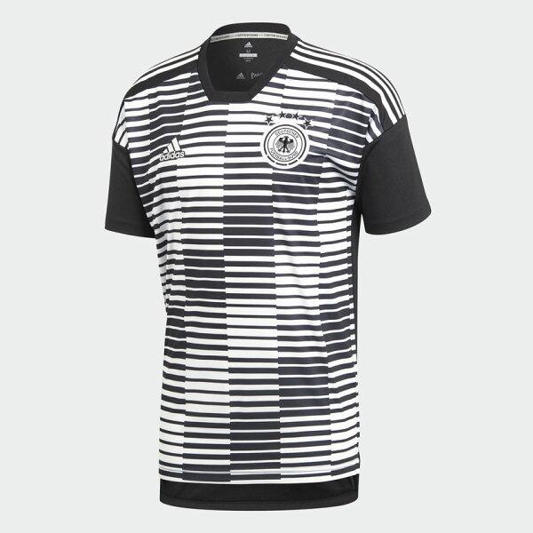 ADIDASGERMANYPRE-MATCHJERSEY男裝短袖世足賽世界盃德國灰黑白【運動世界】CE6632