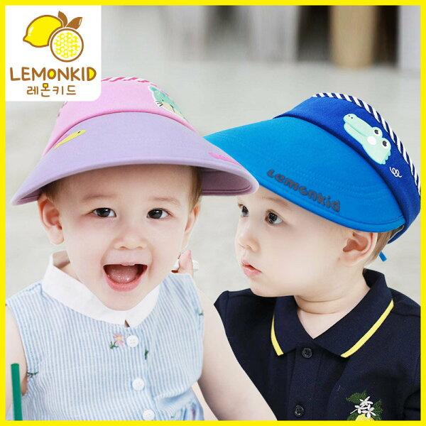 WallFree窩自在★春夏UPF防曬兒童動物大帽簷透氣遮陽空頂帽