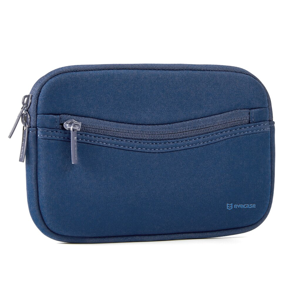 6 -7in GPS Case - Evecase GPS Navigation Smile Neoprene Pouch Sleeve Case  for Garmin nüvi, Tomtom, Magellan and more - 6 - 7 inch Navy Blue