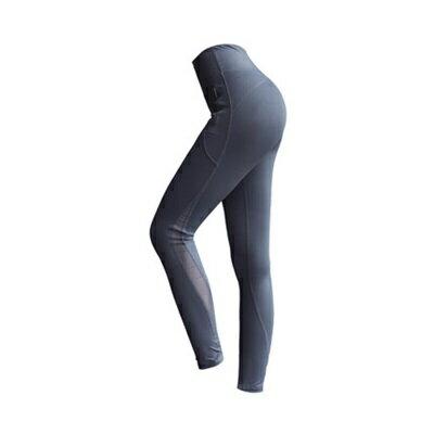 運動褲長褲-高腰拼接網紗健身女褲子3色73ul23【獨家進口】【米蘭精品】
