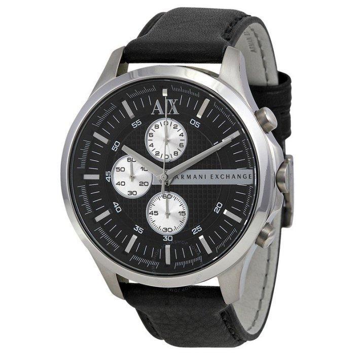 美國百分百【Armani Exchange】AX 手錶 腕錶 三眼 經典 阿曼尼 真皮錶帶 銀色 AX2153 C876