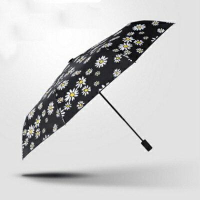 遮陽傘抗UV防曬晴雨傘-時尚雛菊不透光三折戶外用品73fa25【獨家進口】【米蘭精品】