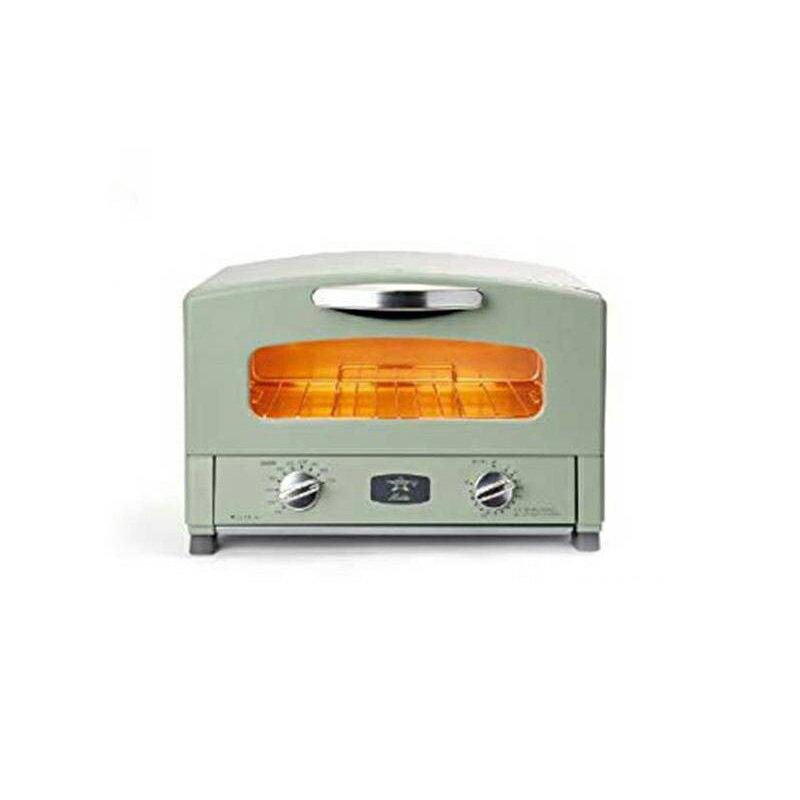 《日本Sengoku千石》千石阿拉丁二枚燒烤箱 附烤盤+烤網(綠色) AET-GS13T