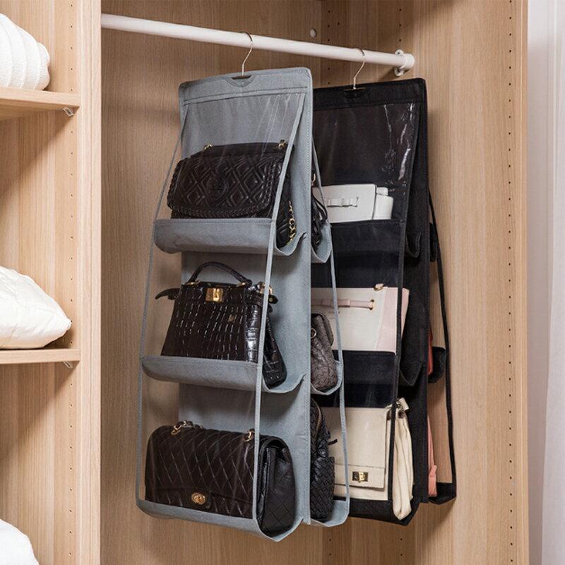 包包收納掛袋 無紡布門后收納袋 收納家居掛袋衣柜懸掛式(顏色不足 出貨) D10503 【H00545】