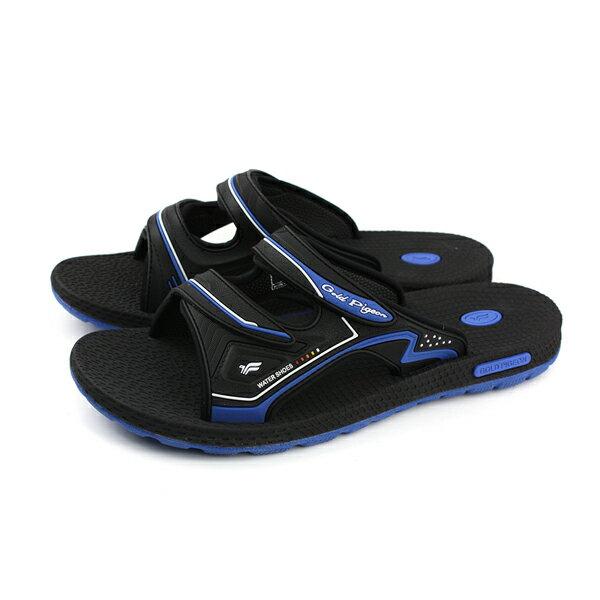 GP(Gold.Pigon)阿亮代言涼鞋拖鞋防水雨天黑深藍男鞋G8547M-20no876