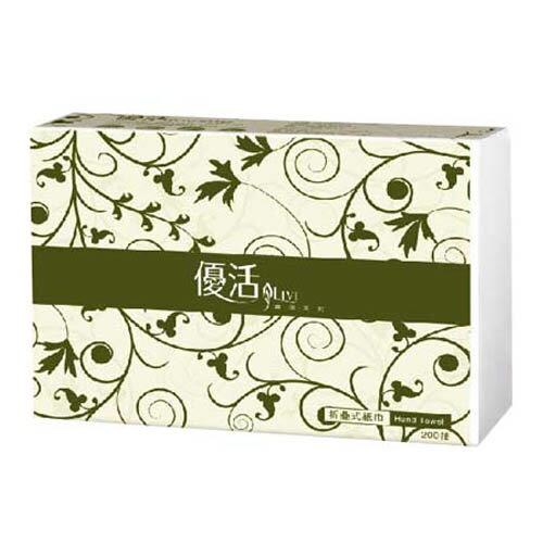 【Livi優活 擦手紙】Livi 優活 抽取式摺疊擦手紙巾 (200抽x20包/箱)