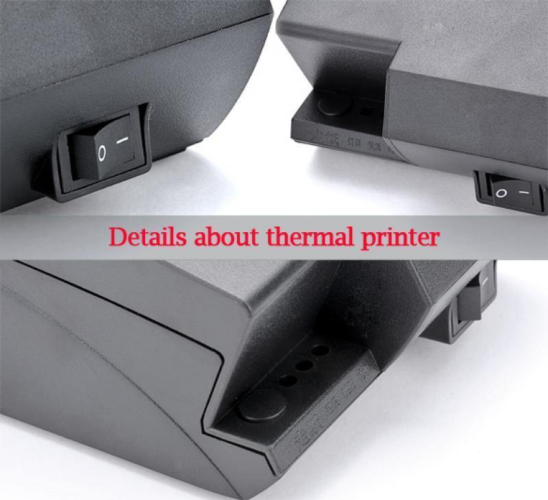 USB Mini POS Printer Thermal Dot Receipt Printer Set Roll Paper with power adapter Inside 3