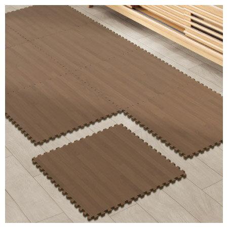 大型木紋巧拼地墊 DBR 8入組 45x45 NITORI宜得利家居