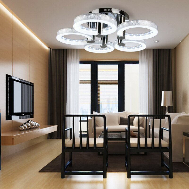 European Modern Style LED Acrylic Chandeliers Ceiling Light Lamp With 5 Lights 0