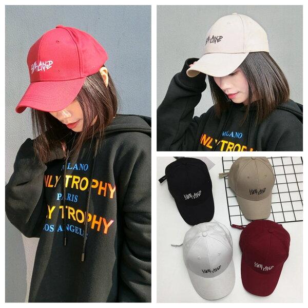 韓版簡約字母刺繡百搭棒球帽