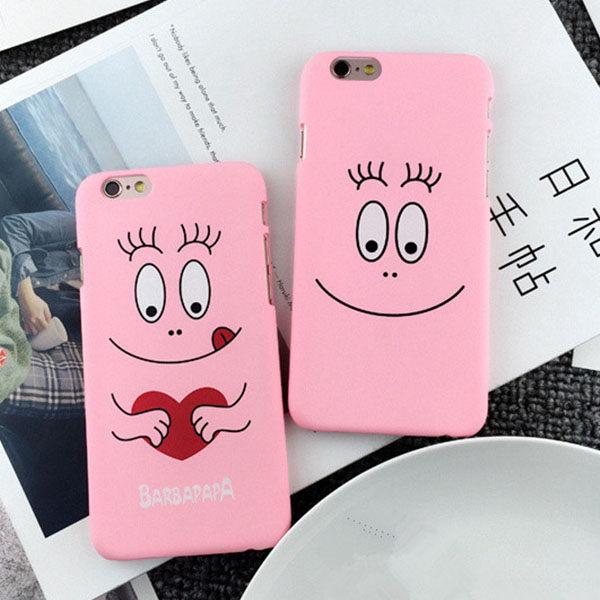 手機殼-可愛粉嫩系粉紅泡泡先生磨砂硬殼iphone手機殼 保護套【AN SHOP】