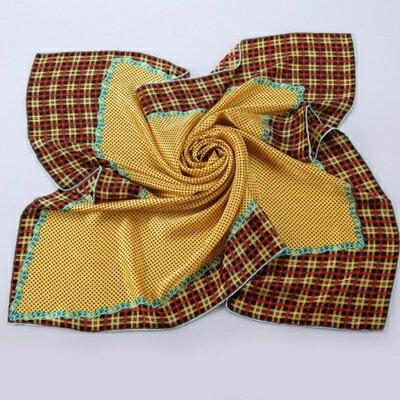 絲巾桑蠶絲圍巾-自然清新格紋設計女配件5色73hx13【獨家進口】【米蘭精品】