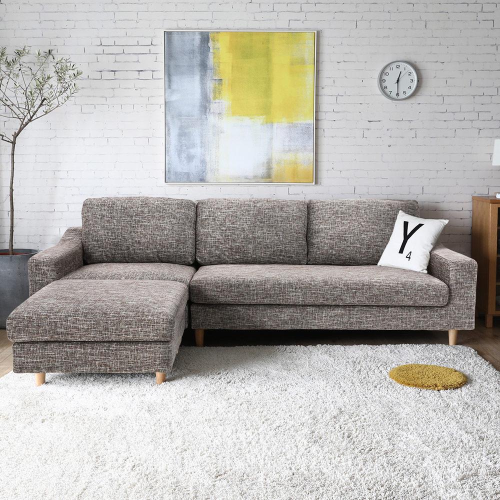 買家推薦★HOGO雨果簡約舒適沙發 / L型沙發-2色  /  H&D 1