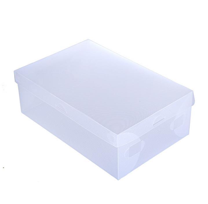 【透明可摺疊式鞋盒】男女鞋適用 透明鞋盒 手提式收納鞋盒 收納盒