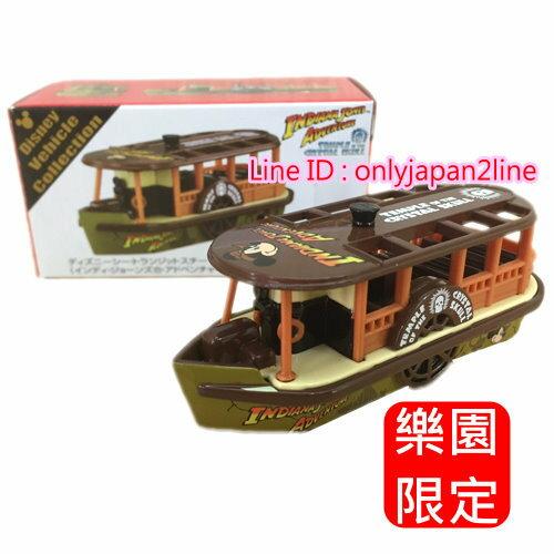 【真愛日本】16100900003 限定樂園小車-法櫃奇兵蒸氣渡船   迪士尼樂園 海洋迪士尼