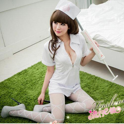 <br/><br/>  角色扮演大尺碼XL護士服COSPLAY服裝~短袖洋裝護士裝~流行E線A409<br/><br/>