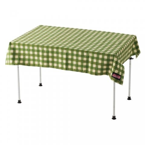 【速捷戶外】美國Coleman CM-26879 綠格紋桌布 抗污、防水、耐磨露營郊遊野餐 蛋捲桌 折疊桌