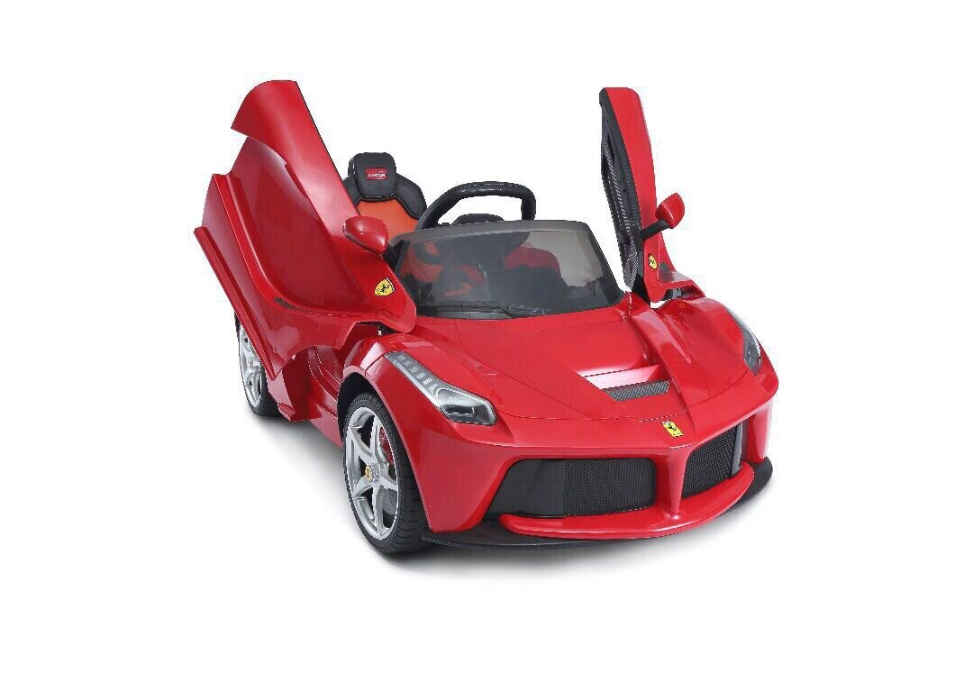 Red LaFerrari RC Kids Electric Ride-On Car Lights and Sound 3