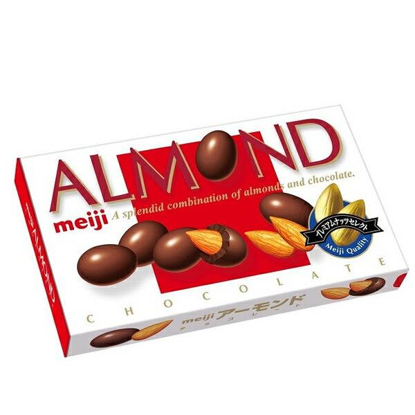 【即期良品】日本零食 明治ALMOND杏仁巧克力 1