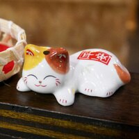 愚人節 KUSO療癒整人玩具周邊商品推薦【貓粉選物】微笑小花貓 療癒小物 筷架 紙鎮 小花貓 平安