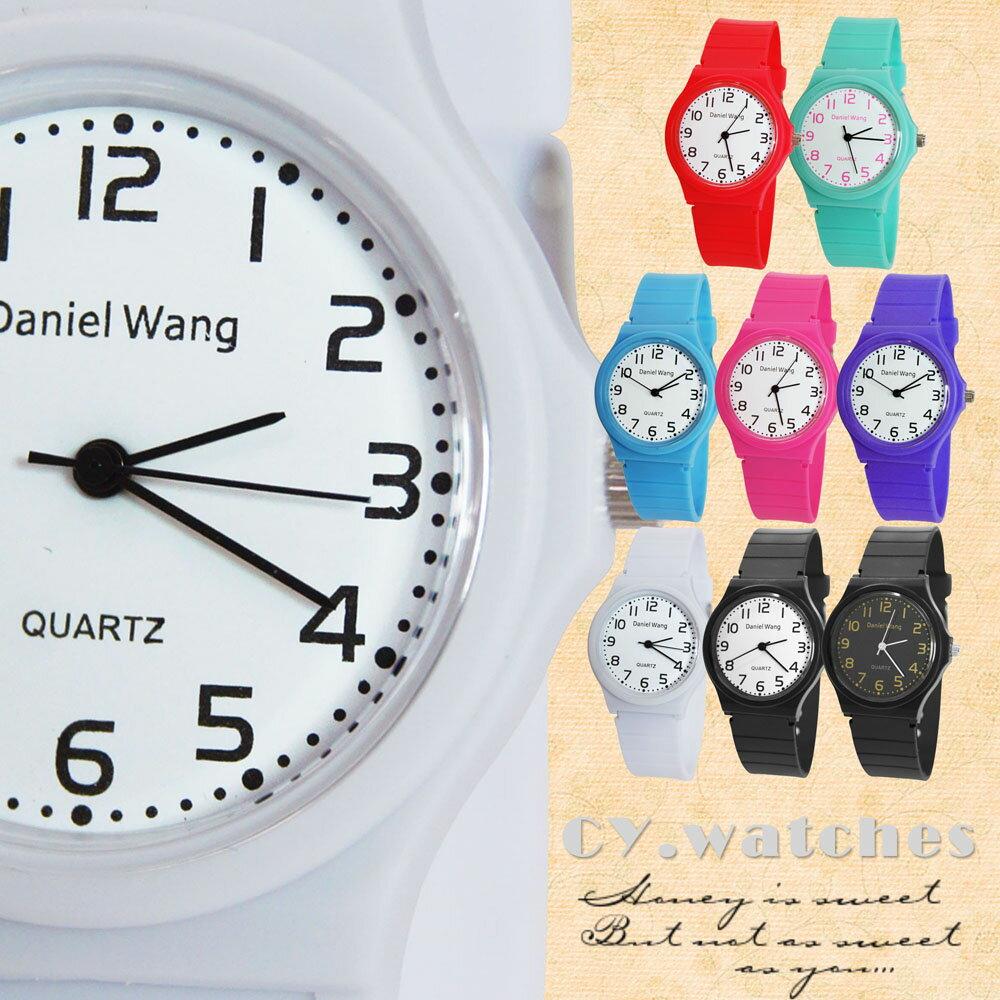 Daniel Wang 4118-日系 馬卡龍輕薄數字學生錶 4