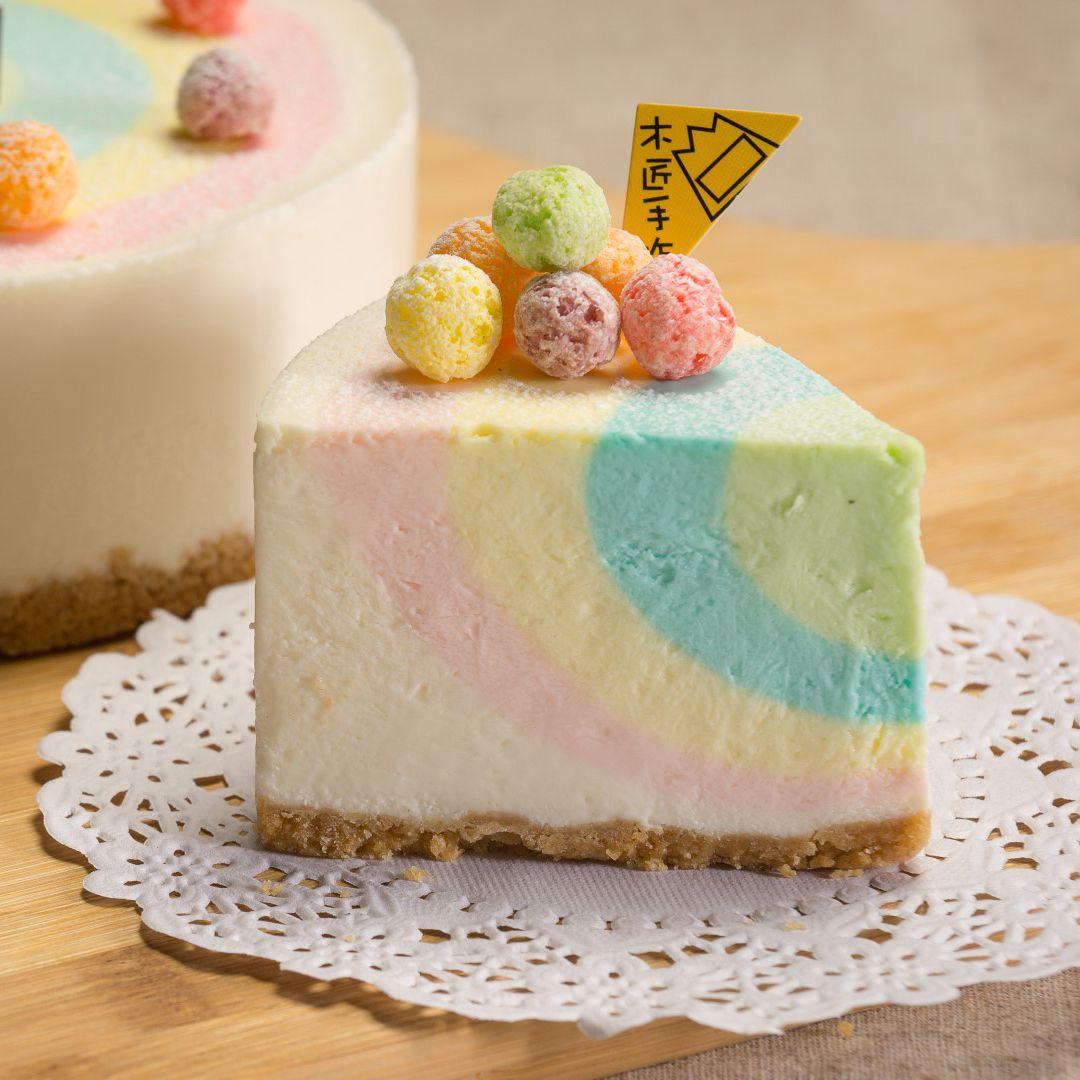 木匠手作  ★【彩虹】生乳酪蛋糕 (6吋)★樂天歡慶母親節滿499免運【04 / 16-04 / 30加一元多一件】 0