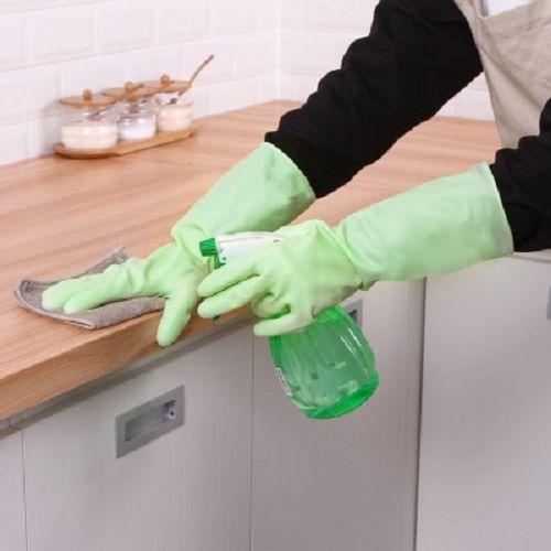 ✤宜家✤洗碗手套 女薄款防水耐用型 廚房家務清潔家用乳膠手套