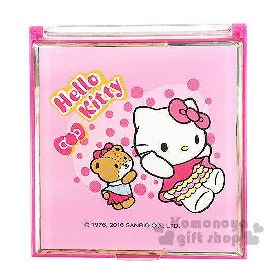 〔小禮堂〕Hello Kitty 立鏡折疊鏡《小.粉.小熊.點點.蝴蝶結》