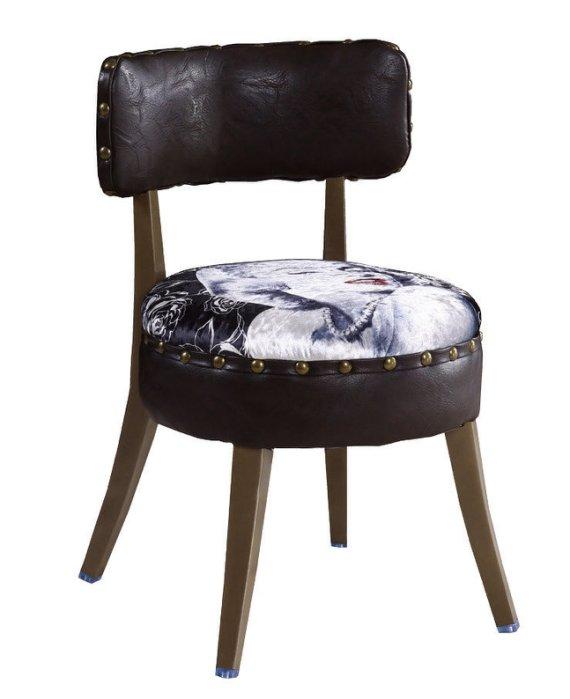 ~尚品傢俱~JF~989~7 瑪麗蓮鉚釘皮餐椅