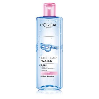 【LOREAL Paris 巴黎萊雅】三合一卸妝潔顏水 保濕型400ml【淨妍美肌】