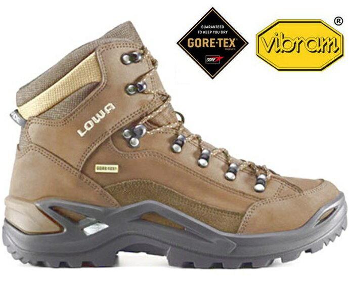 Lowa 寬楦登山鞋/中筒防水健行鞋 Renegade gore-tex Mid 男款 LW310968 4554 褐色