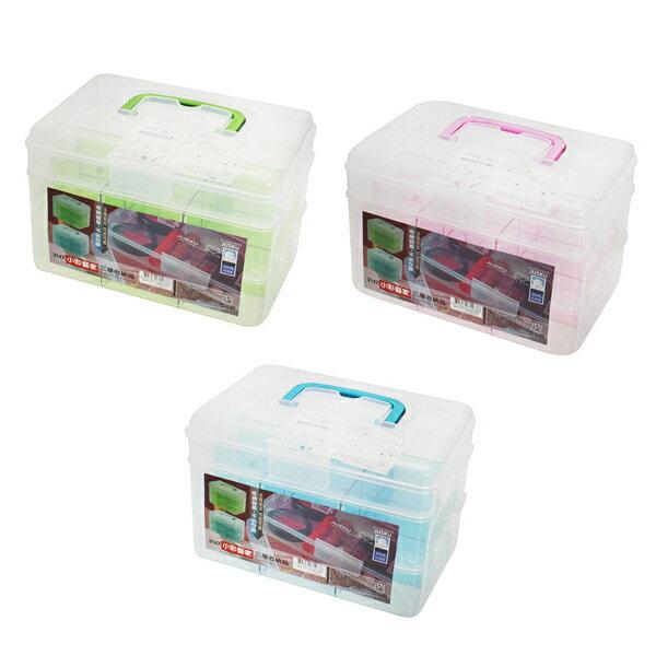JUSKU 佳斯捷 3147 小彩藝家三層收納箱 (零件盒 收納箱 儲物盒 工具箱 小物盒 台灣製造 手提收納箱 化妝箱)