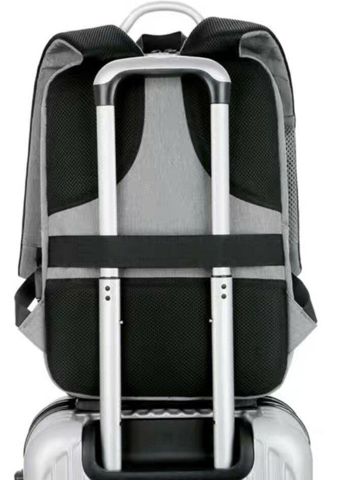 【鸚鵡笑笑】旅行後背包- 鸚鵡 (灰色)    雙11購物節