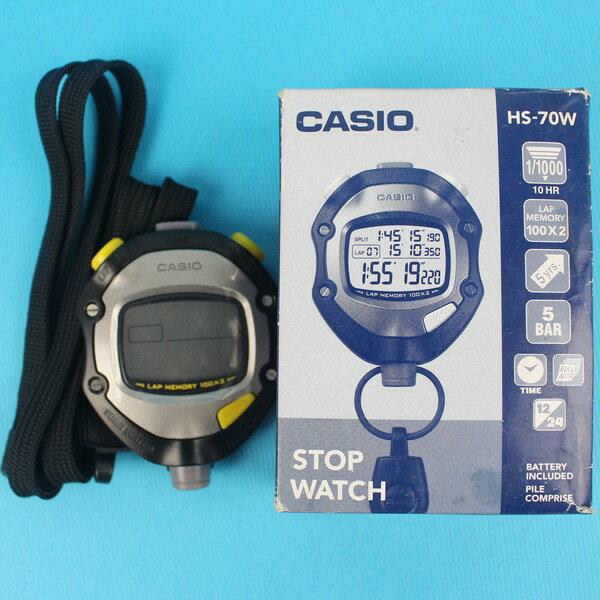 CASIO 卡西歐碼錶 HS-70W 碼錶 (100筆記憶)/一個入{定1600} 比賽專用碼錶